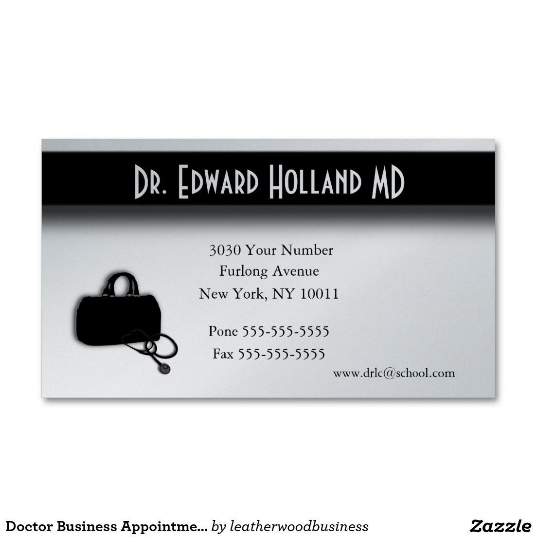 Doctor Business Appointment Card | Business cards and Business