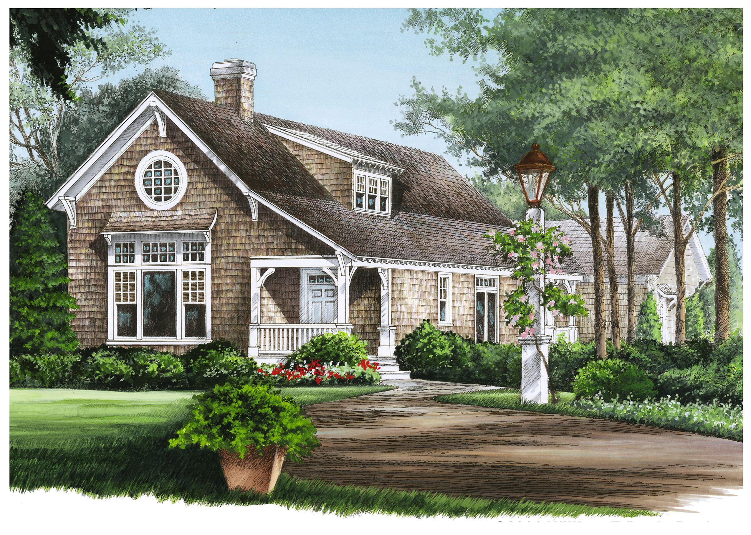 plan 32591wp shingled cottage home plan sitting area