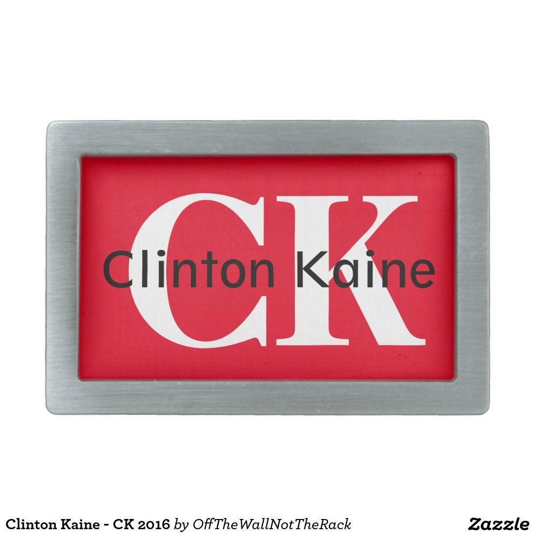 Clinton Kaine - CK 2016 Belt Buckle