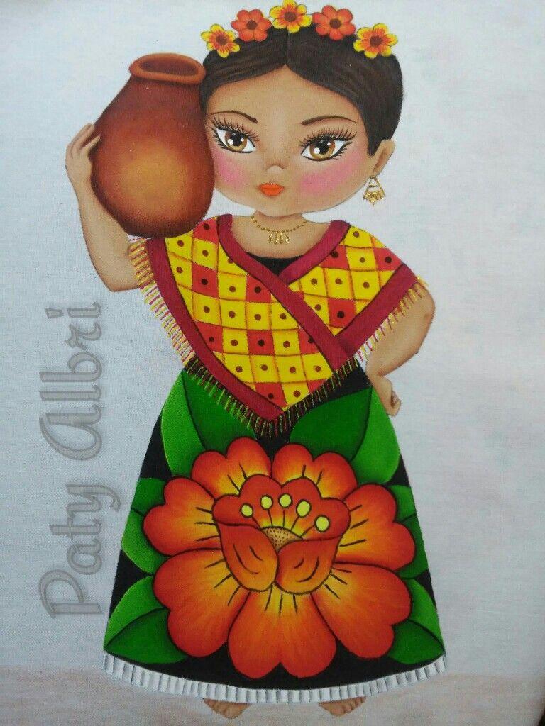 Pintura textil tehuana paty albri pintura en telas y - Dibujos para pintar en tela infantiles ...