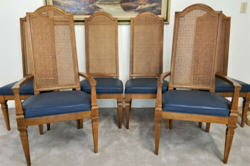 Brilliant Details About Set Of 6 Vintage Drexel Furniture Cane Back Gamerscity Chair Design For Home Gamerscityorg