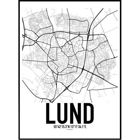 lund karta hitta Lund Karta Poster | Lund lund karta hitta