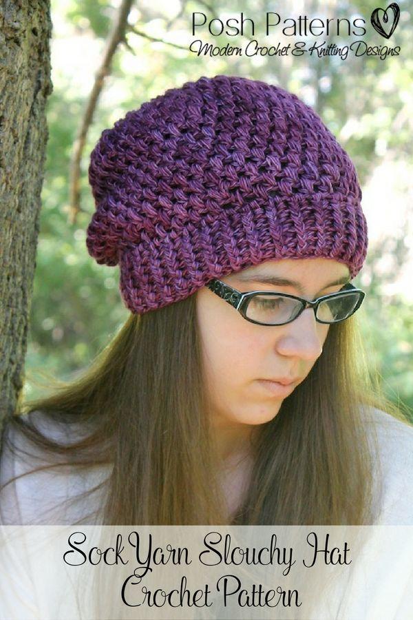 Crochet PATTERNS - Puff Stitch Slouchy Hat Crochet Pattern | Cute ...