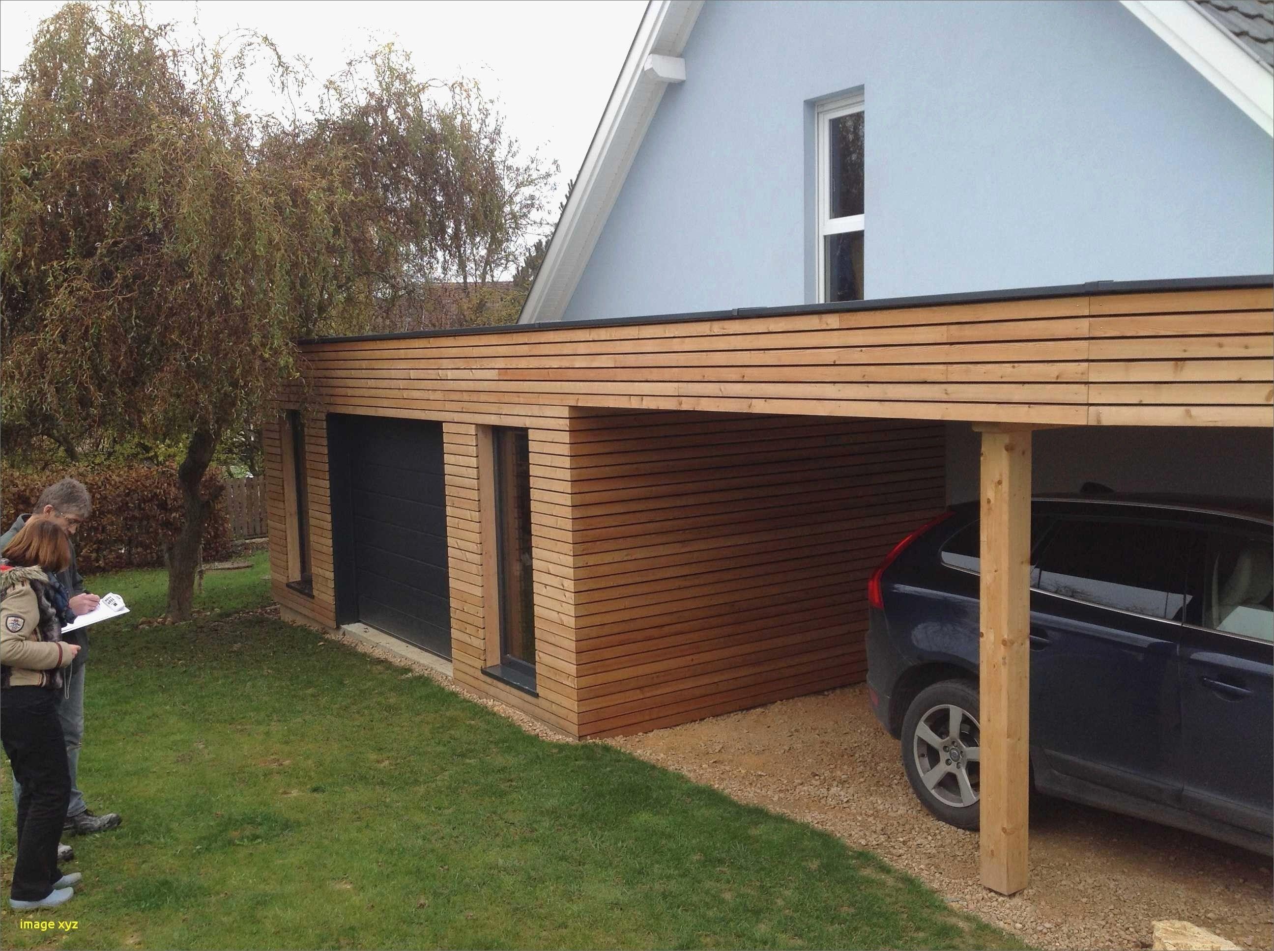 construction garage bois envo tant garage toit plat beton id es avec extension garage toit plat