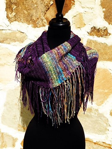 Ravelry: African Violet Cowl pattern by Benjamin Matthews ...