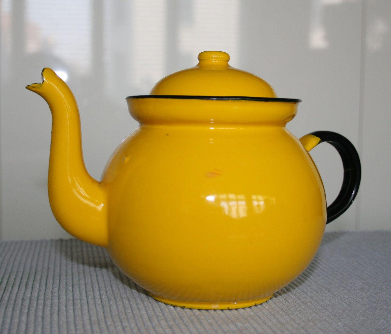 Vintage Enamelware Teapot, Poland   Collecting   Pinterest   Vintage ...