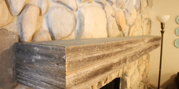 Installing A Wood Mantel On Stone Wall