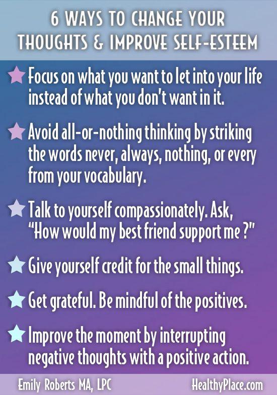 How to enhance your self esteem