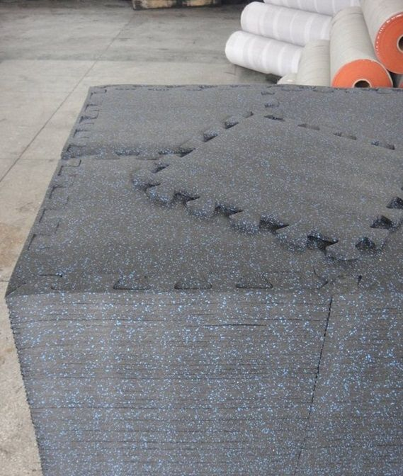 Interlocking Rubber Floor Tiles Use In Commercial And Residential