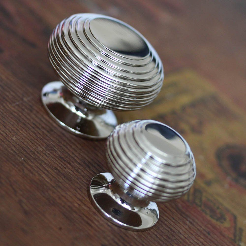 Solid Ebony Nickel Beehive Door Knobs: Nickel Beehive Cabinet Knob