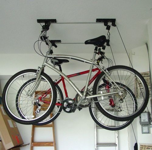 New Mtn G Ceiling Mounted Roof Bicycle Rack Garage Pulley Racks Stand Storage Systems Ceiling Mounted Bik Bike Storage Garage Bicycle Garage Bike Storage Rack