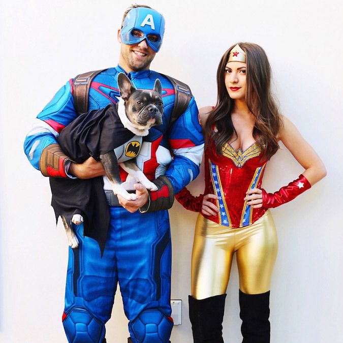 Wonder Woman and Captain America couples costume  sc 1 st  Pinterest & Tuesday Ten: Couples Halloween Costumes | Pinterest | Costumes ...