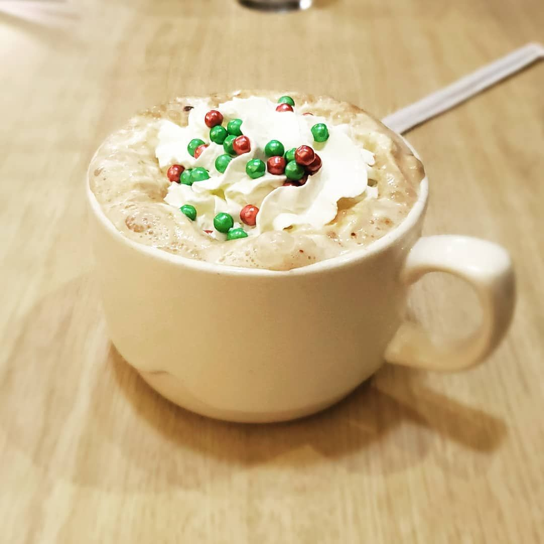 Slowly getting ready for this cold weather and Christmas with this Merry Marshmallow Hot Chocolate!!! But dont worry I...   Slowly getting ready for this cold weather and Christmas with this Merry Marshmallow Hot Chocolate!!! But dont worry I didnt forget about Thanksgiving lol  #cold #hotchocolate #cocoa #christmas #winter #delicious #warm #comforting #happy #drink #marshmallow #sprinkle #whipcream #ihop #coldweatherrecipes