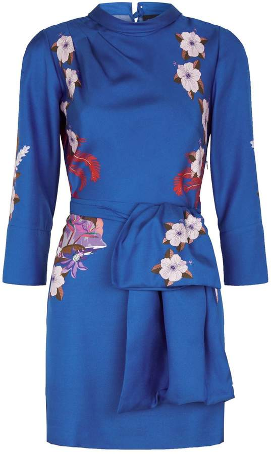 brand new 85f7e 17e10 Etro Silk Belted Floral Mini Dress in 2019 | Products ...