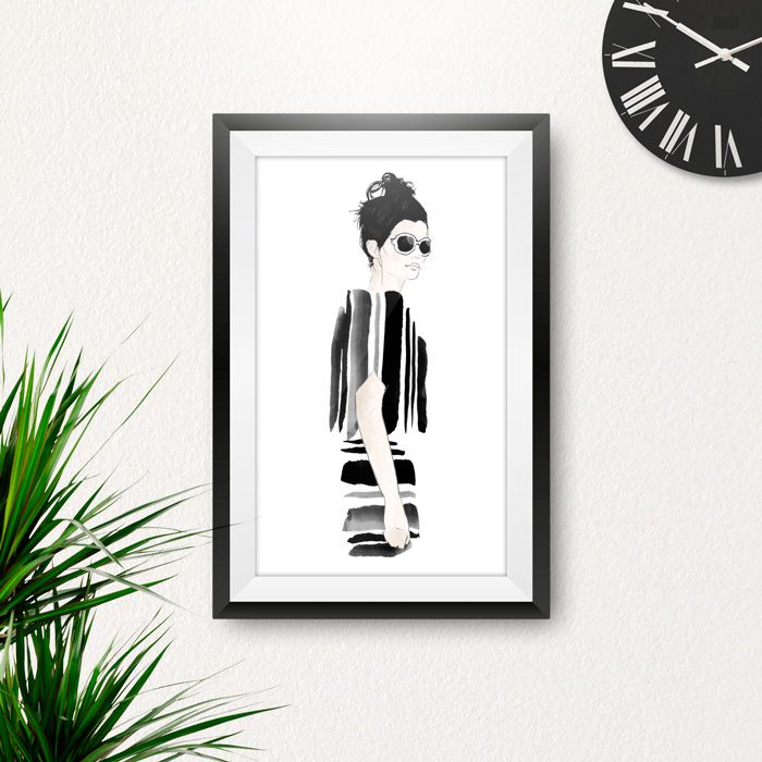 Illustration made by Danilo De Donno ( STYLOGRAPHIC) © ALL RIGHT RESERVED visit my personal website: www.danilodedonno.com   #fashionillustration #fashiondesign #watercolor #painting #drawing #digitalart #print #illustration #poster #wallart #homedecor #roomdecor #interiordesign #fashion