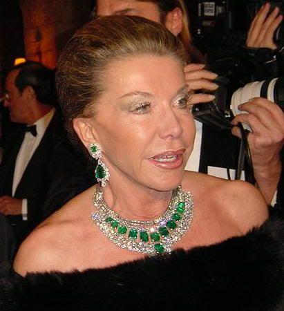 Princess Marina of Savoy: diamond & emerald earrings & necklace