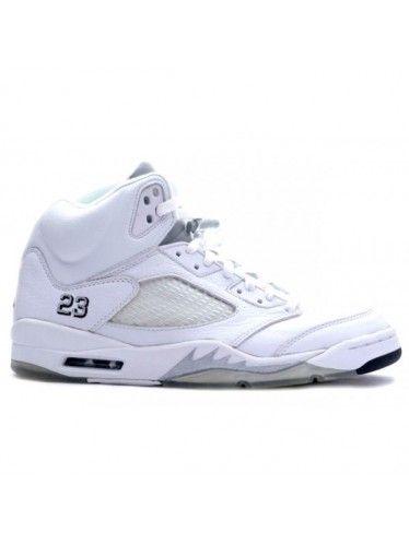0fb798cdb162cd Nike Air Jordan 5 Retro all white- 25th Anniversary Shoes