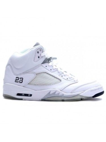 136045 101 Nike Air Jordan 5 Retro alle White 25th Anniversary