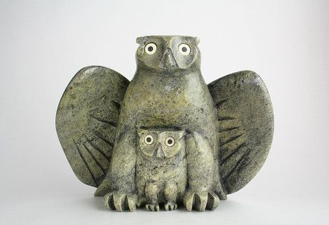 Owl and Chick Artist Joanasie Manning