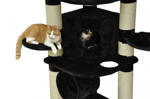 details zu kratzbaum katzenkratzbaum xxl gigant kratzst mme 15cm sisal deckenhoch schwarz. Black Bedroom Furniture Sets. Home Design Ideas