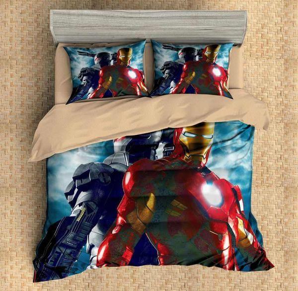 3d Customize Iron Man Bedding Set Duvet Cover Set Bedroom Set Bedlinen Mens Bedding Sets Duvet Bedding Sets Duvet Cover Sets