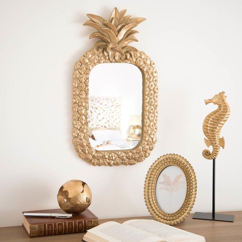miroir ananas dor 28x50 maisons du monde