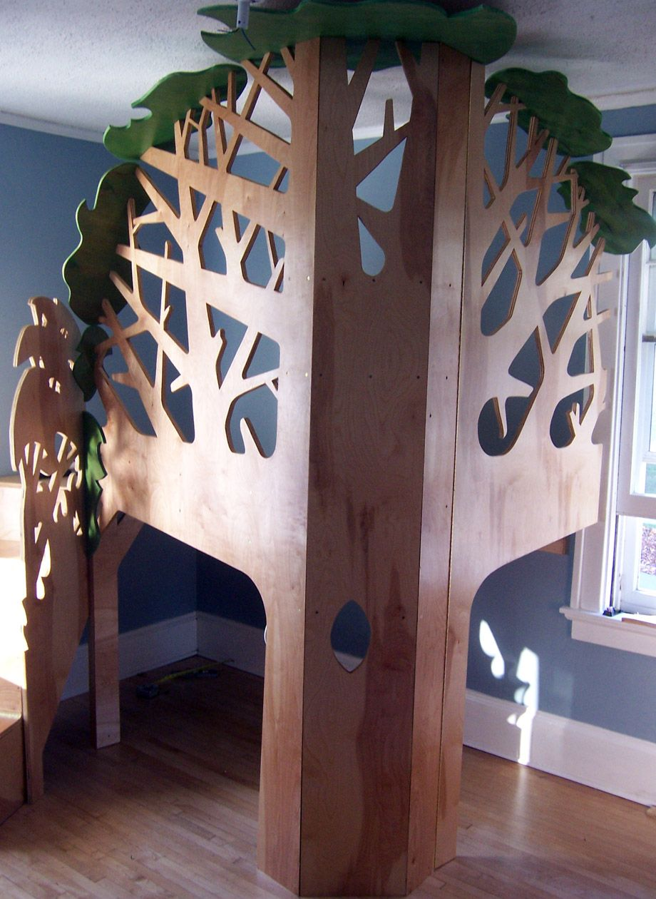 lofty ideas indoor jungle gym. Monpon  Birthday Bed Lofted tree house doesn t necessarily have to be in the corner but I like idea of using a as bumper Beautiful Tree Loft Could incorporate shelving branches and
