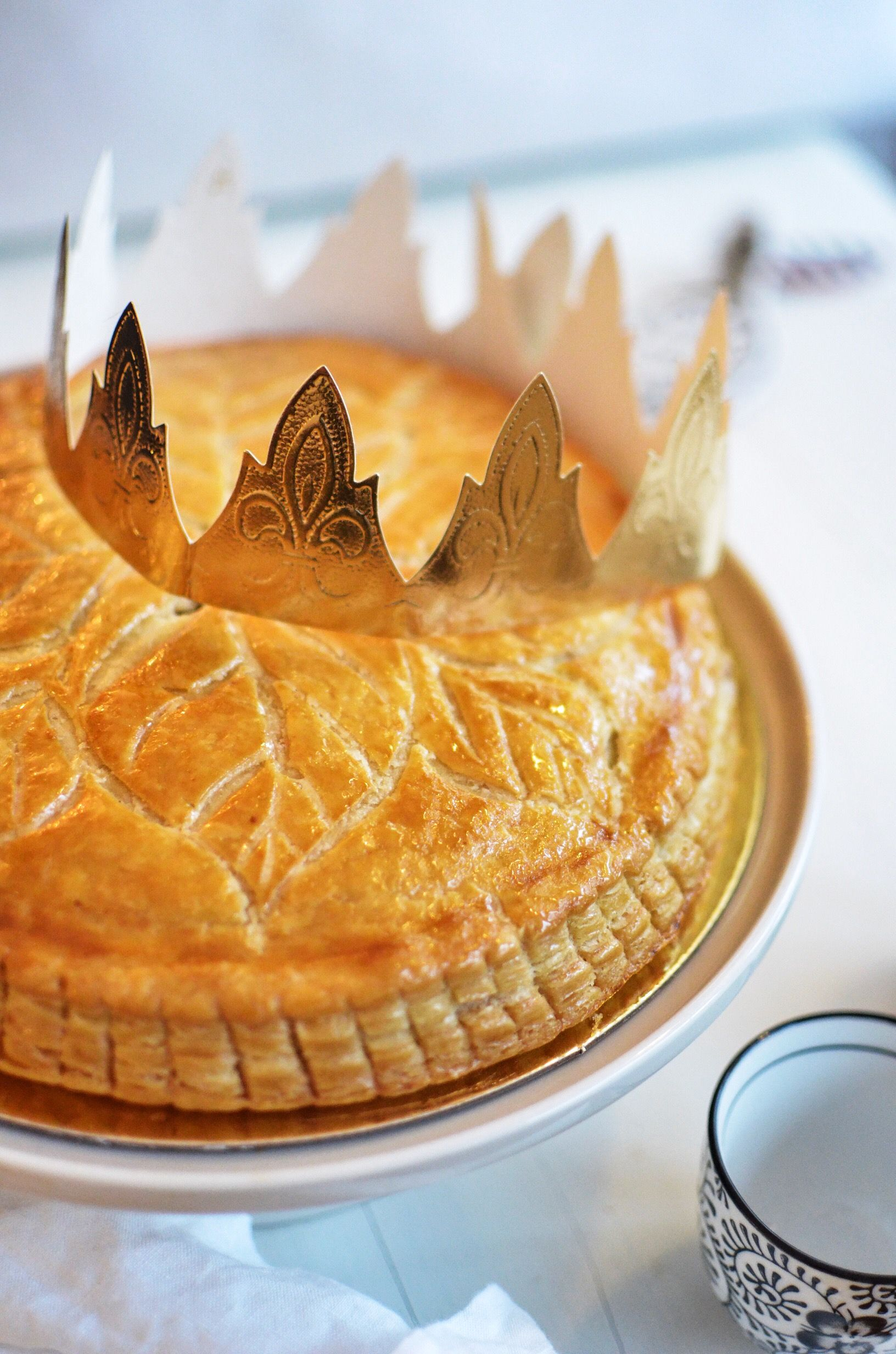 Galette des rois or french epiphany cake recipe food