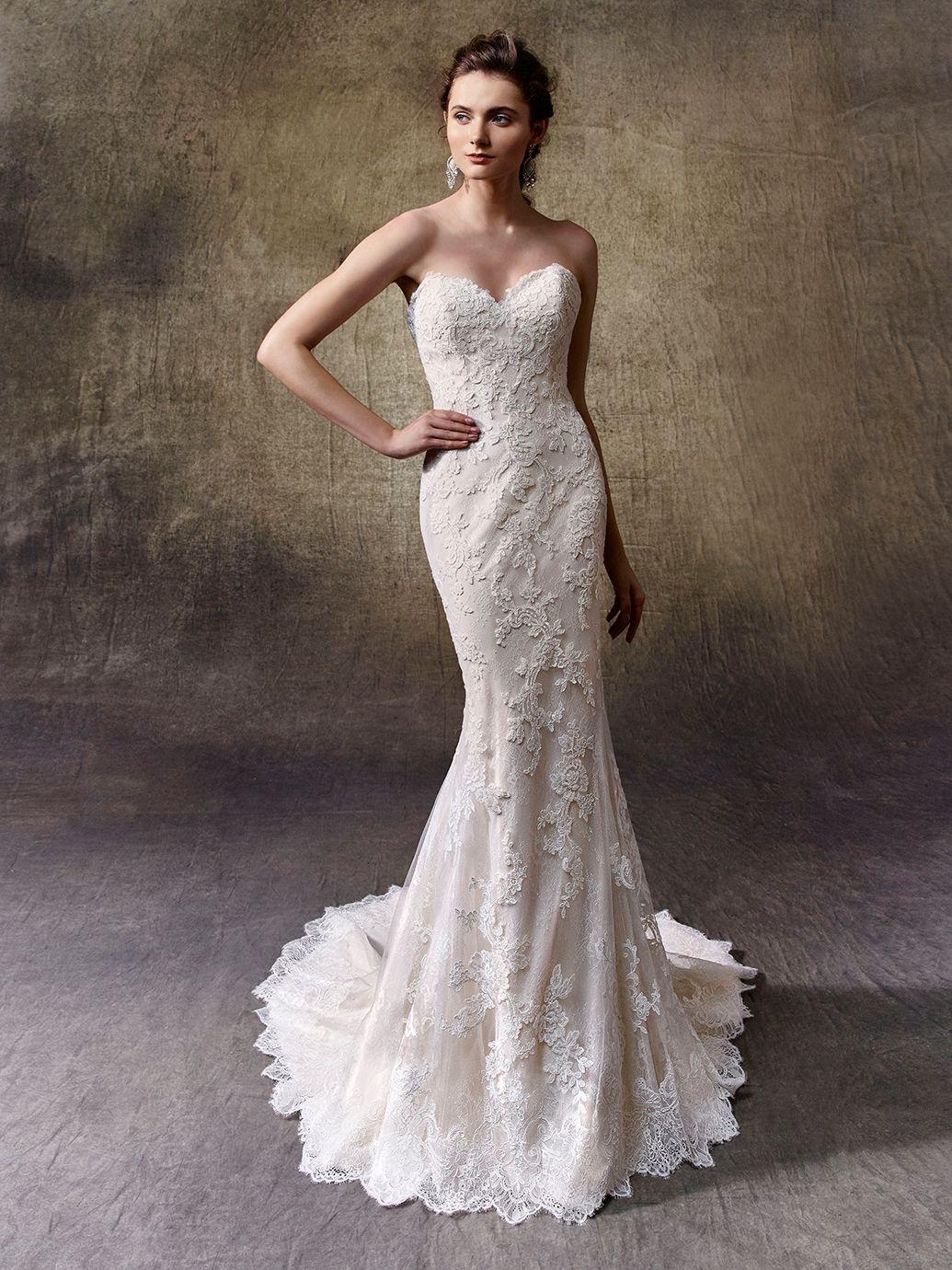 enzoani lucie front view beauty pinterest wedding dress
