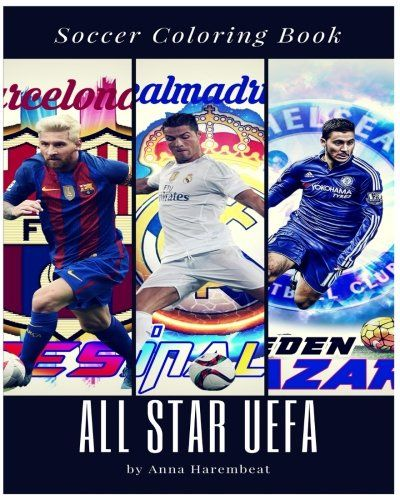 All Star Uefa Coloring Book Soccer Player Ronaldo Messi   - new coloring pages ronaldo