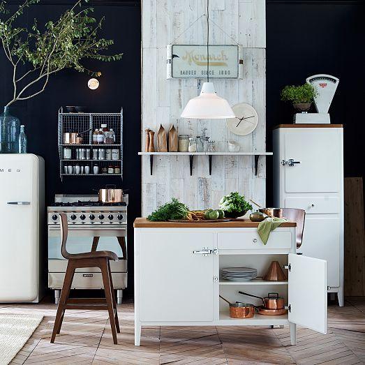 Cabin Kitchen Island - White | west elm | In the Kitchen ...