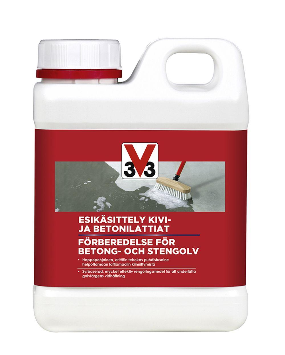V33 Esikäsittely Kivi- ja betonilattiat