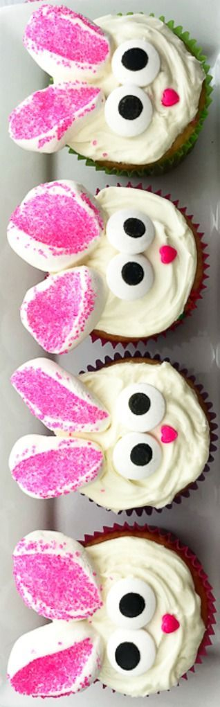 Photo of Bunny Cupcakes: Easy to Make in Minutes –  How To Make Easy Bunny Cupcakes ~ Cut…