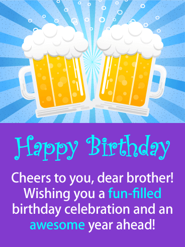 Happy Birthday Cheers Ecard Free Card Greeting Cards