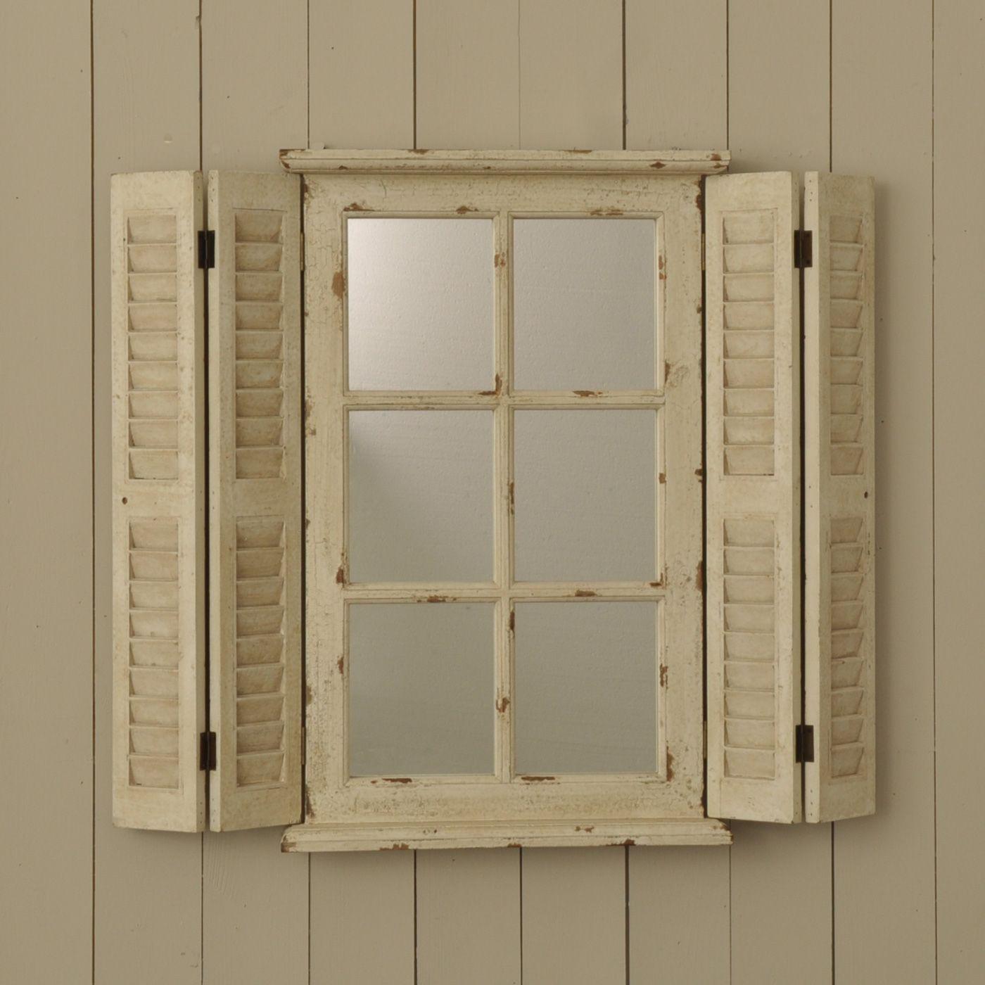 Achica Oneworld Mirror With Shutters Shutter Mirror Window Mirror Shutter Decor