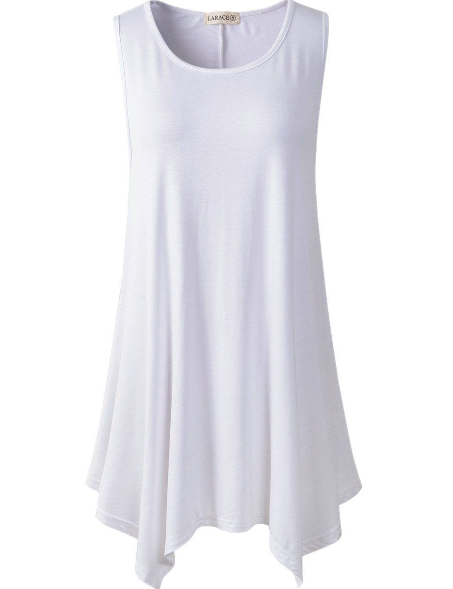 8aa3004331edb larace women plus size solid basic flowy tank tops summer sleeveless tunic