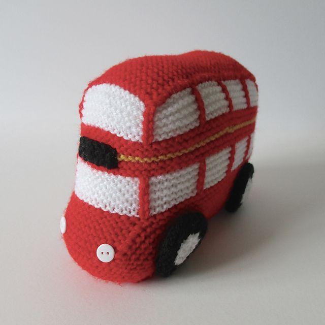 London Bus pattern by Amanda Berry | Pinterest | Ganchillo, Juguetes ...