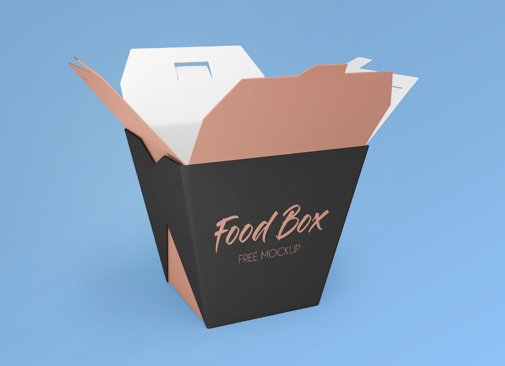 8924+ Food Box Mockup Free Psd DXF Include