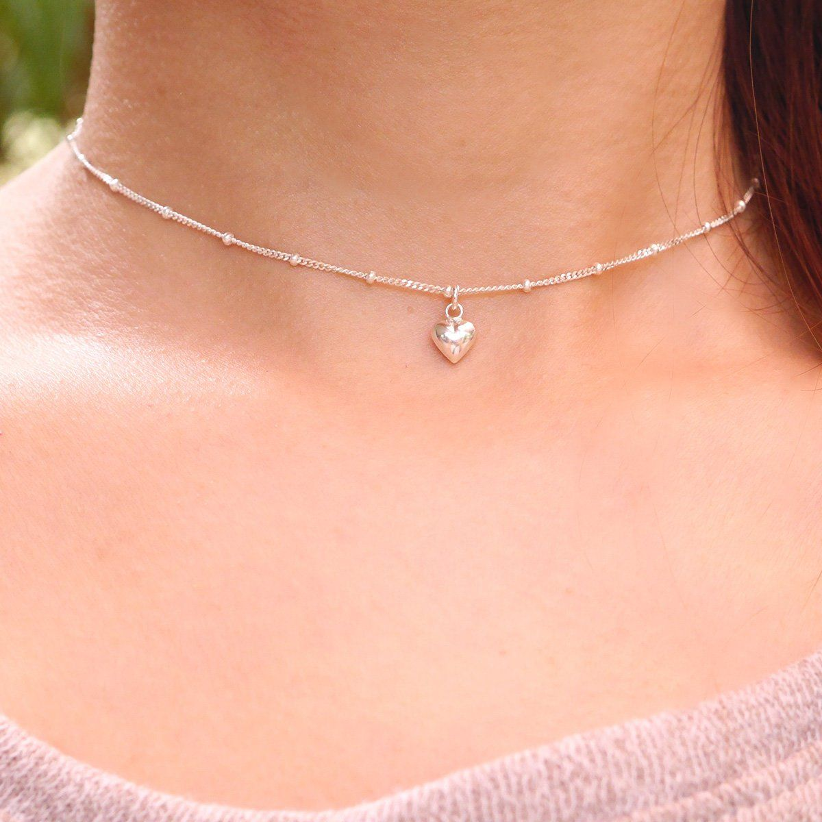Sterling Silver Choker Necklace Dainty *Gift for her*