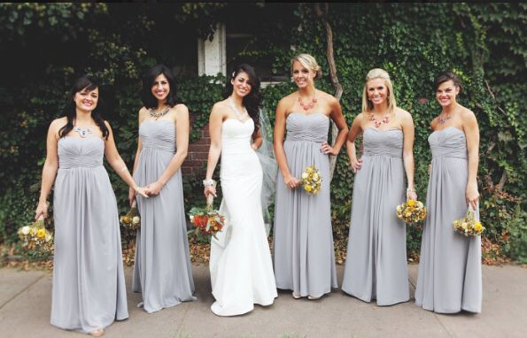 Bridesmaid dresses in Mercury grey, bought from David's ...