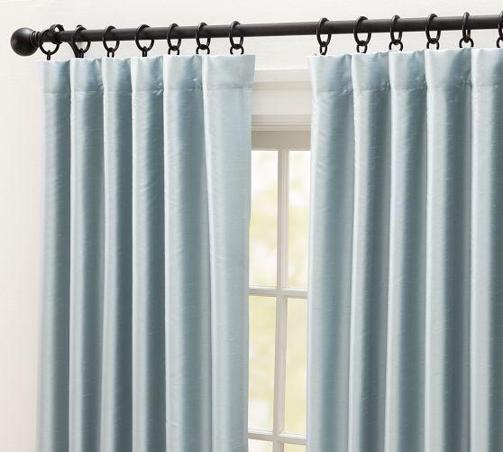 Dupioni Silk Drape Custom Drapes Silk Curtains Silk Drapes