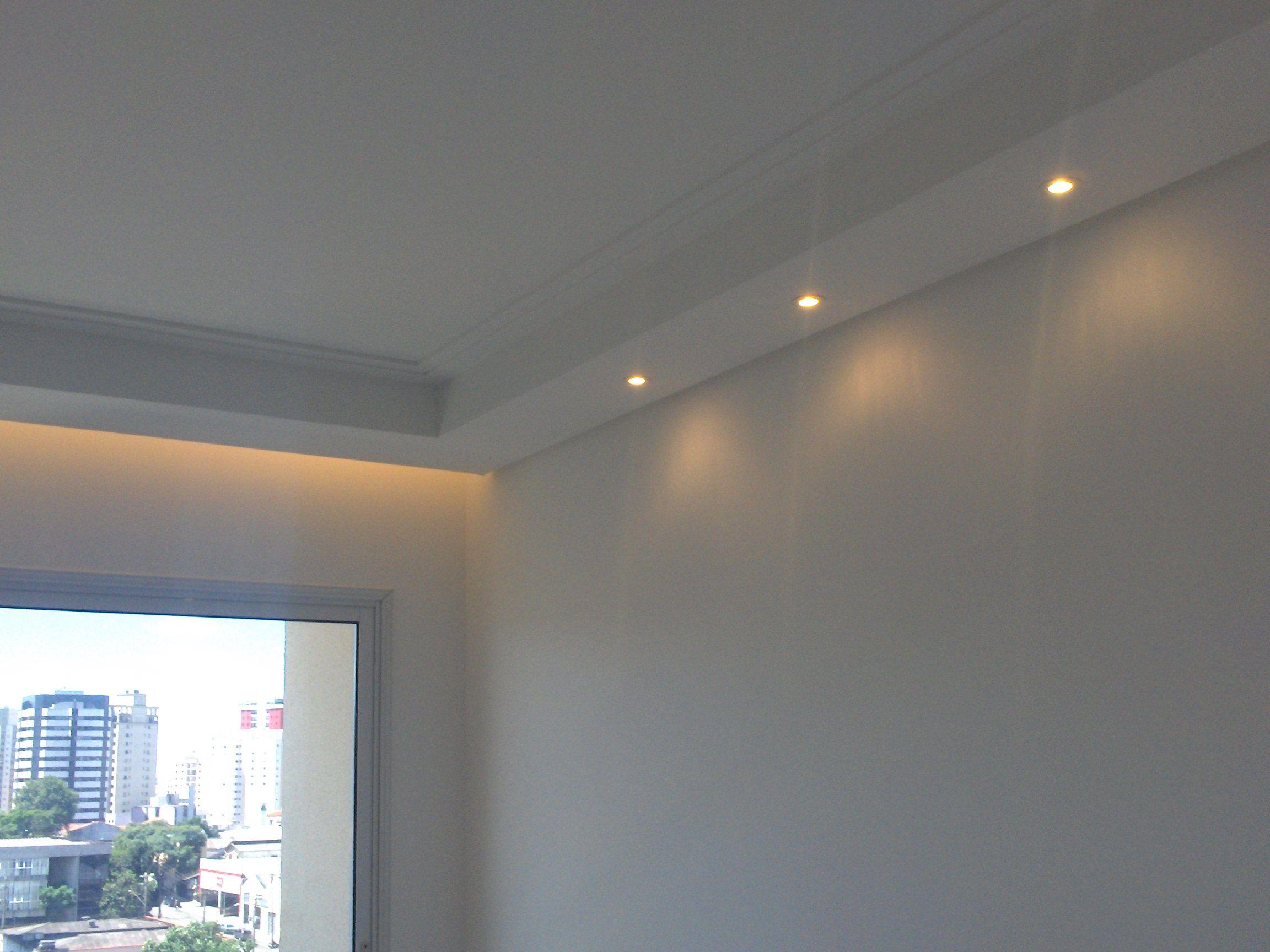 Cortineiro Iluminado Com Sanca Fechada Sala Pinterest Ceilings  -> Sancas De Gesso Para Sala Fotos