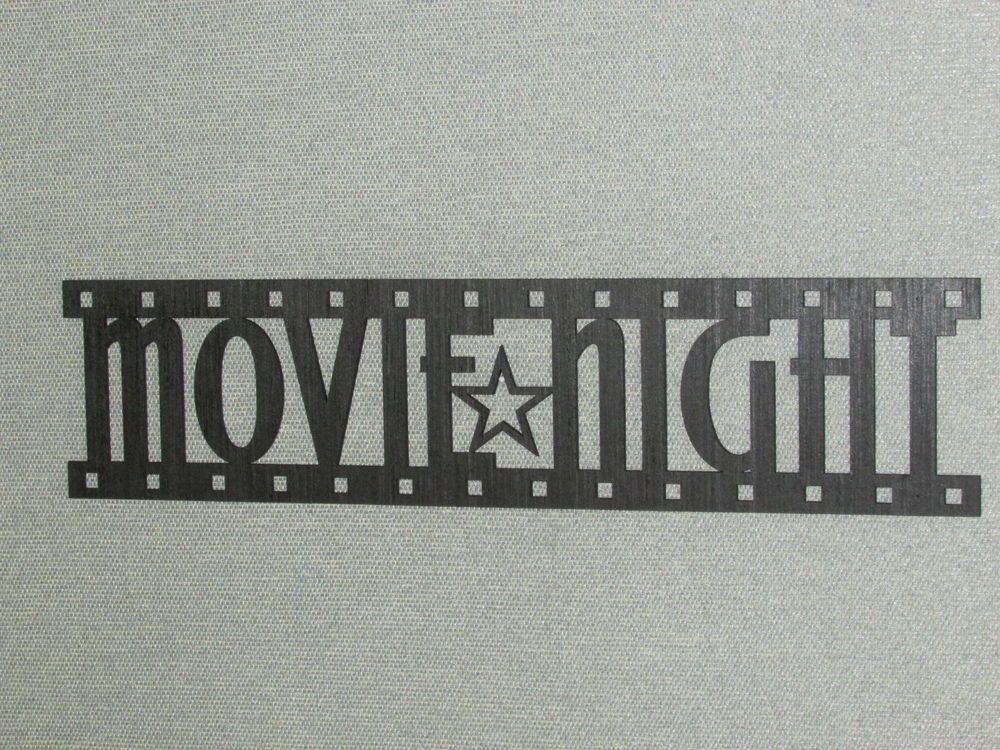 "Movie Night Film Strip Wall Art Decor Sign 24"" wide in Home & Garden, Home Décor, Wall Sculptures 