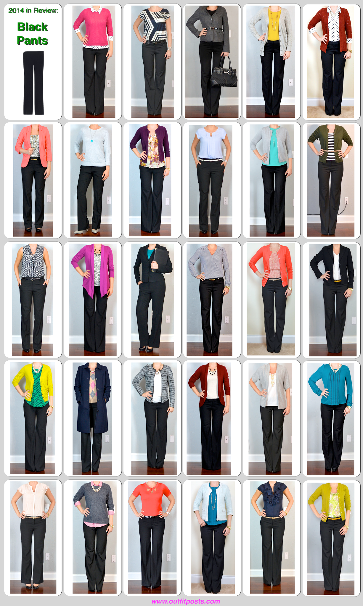 2014 In Review Outfit Posts Black Pants 29 Ways Fashion Outfit Posts Work Outfit [ 2048 x 1226 Pixel ]