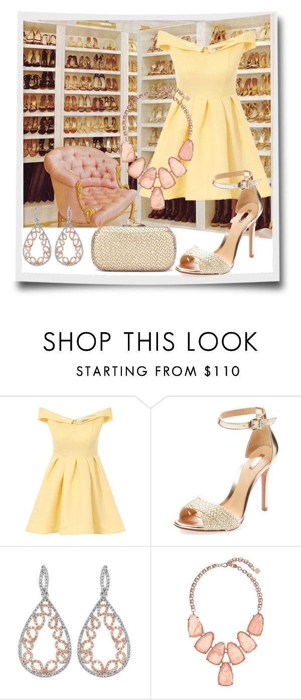"""""""sᴜᴍᴍᴇʀ Affair 💛"""" by lulala002 ❤ liked on Polyvore featuring Chi Chi, Schutz and Kendra Scott"""