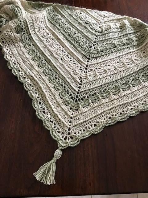 Ana Lucia Shawl - free crochet shawl pattern by Wilmade