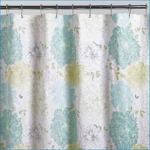 Gray Yellow Turquoise Shower Curtain Yellow Shower Curtains