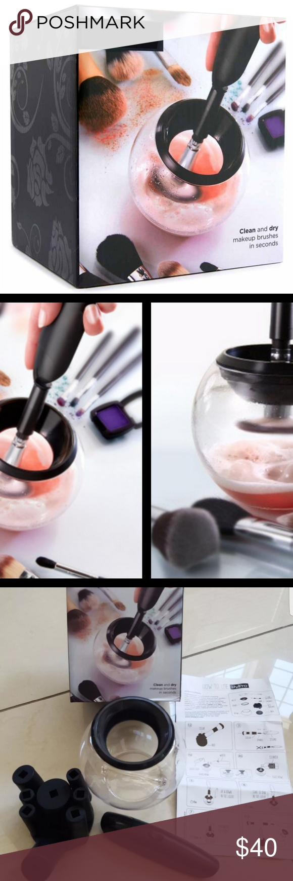Makeup brush cleaning and dry in sec New and never use