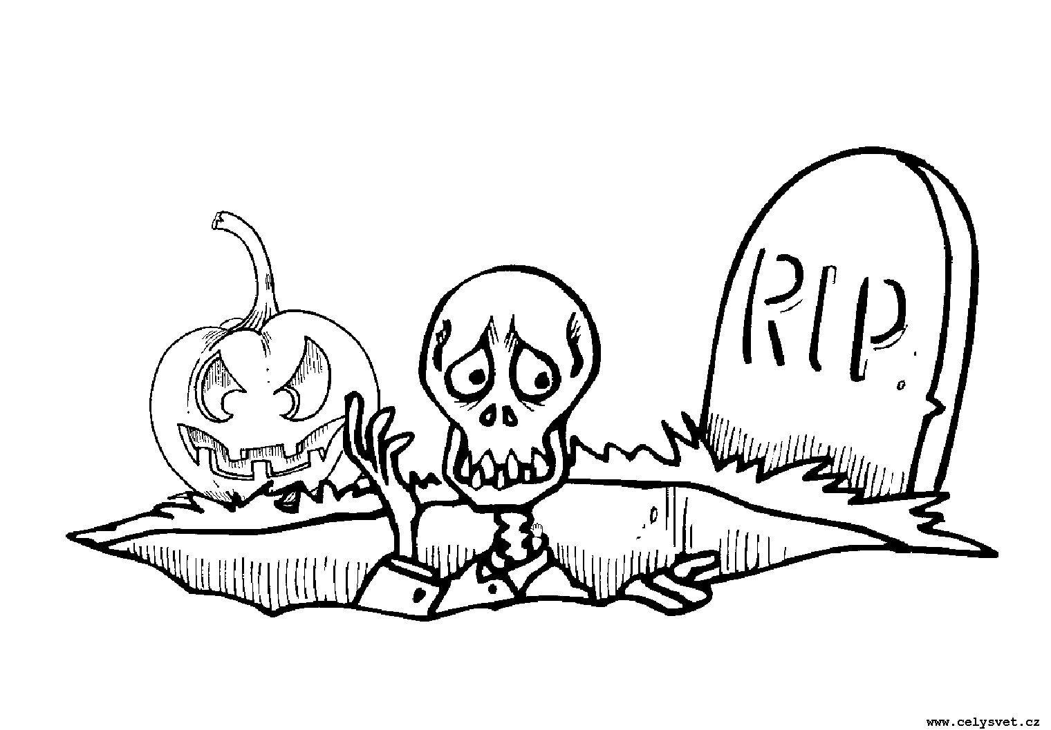 Раскраски на Хэллоуин для детей: подборка картинок для ...