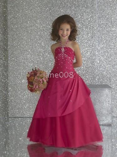 bed9118242f Flower girl dress dark pink